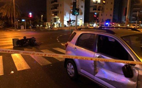 רוכב אופנוע בן 37 נפצע קשה בתאונה בחולון