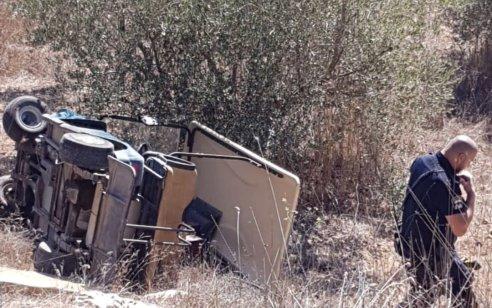 ארבעה פצועים, בהם קשה ובינוני, בהידרדרות קלנועית לוואדי בבית העלמין בנוף הגליל