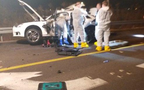חיסול סמוך לאור יהודה: עבריין המזוהה עם הארגון של מיכאל מור נהרג מפיצוץ ברכבו בכביש 412