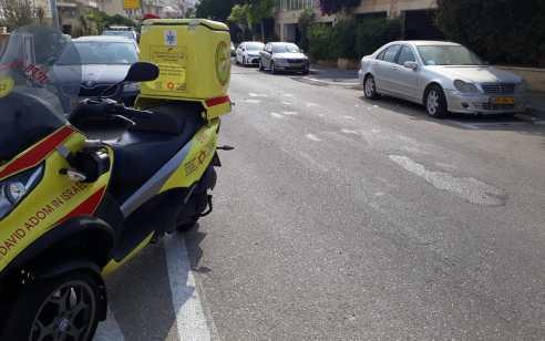 הולך רגל בן 60 נפגע מרכב בחיפה – מצבו בינוני עד קשה