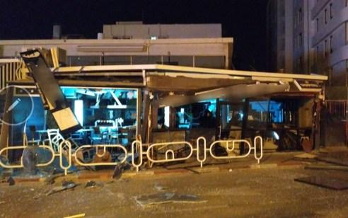 המשטרה פתחה בחקירת אירוע פיצוץ סמוך לבית עסק ברחוב בלפור בנהריה
