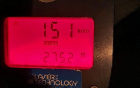 """בן 26 תושב תל שבע נתפס נוהג ברכב שהורד מהכביש במהירות 151 קמ""""ש ובהשפעת אלכוהול"""