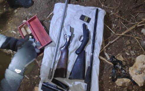 רובה מסוג קרלו, שני רובי צייד ותחמושת רבה נתפסו בכפר שוקבא – שלושה חשודים נעצרו