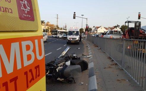 רוכב אופנוע כבן 28 נפגע מרכב בתל אביב – מצבו בינוני