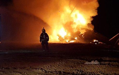 מסוק יסעור ביצע נחיתת חירום ליד צומת בית קמה בדרום אחרי שפרצה אש במנוע – אין נפגעים