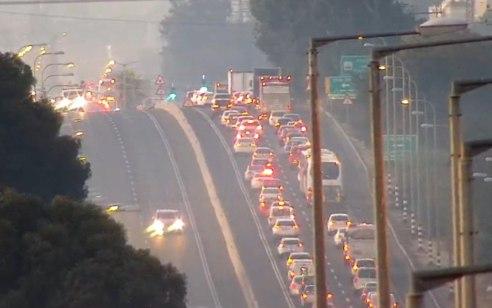 הולך רגל כבן 70 נהרג מפגיעת רכב בכביש 4 צומת הדסים
