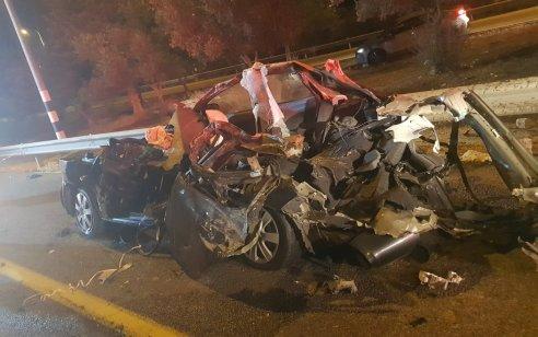 גבר כבן 30 נהרג בתאונה בין משאית לרכב סמוך לכרמיאל