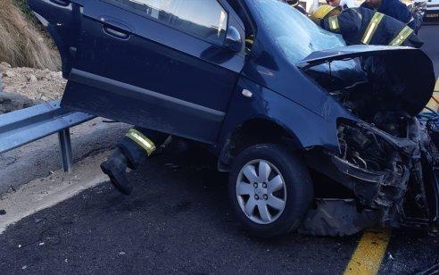 שתי פצועות בינוני וקל בתאונה בין 2 רכבים סמוך למחלף זכרון יעקב