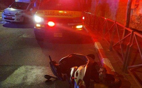 תאונה קטלנית בירושלים: צעירה נהרגה וצעיר נפצע קשה לאחר שהחליקו עם אופנוע בשכונת הר חומה