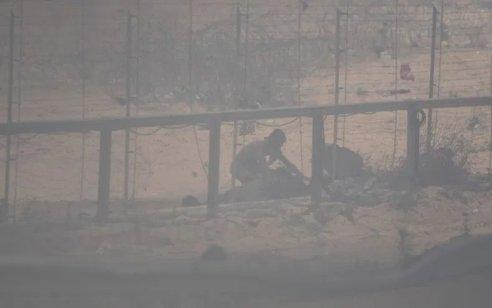 מחבל נורה לאחר שחדר מעזה לשטח ישראל והניף סכין לעבר הכוחות