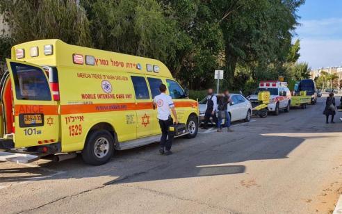גבר כבן 45 נפל מגובה 3 קומות באזור – מצבו בינוני עד קשה