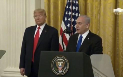 """טראמפ בציוץ בעברית: """"תמיד אעמוד לצד מדינת ישראל והעם היהודי"""""""