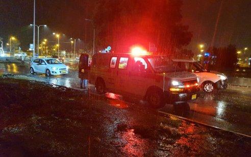 צעיר בן 19 שרכב על אופנוע נפצע בינוני בתאונה באשדוד