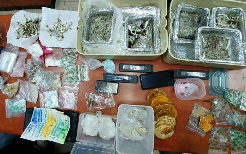 מונית הכסף: נעצר נהג שמכר אלפי מנות קוקאין וקריסטל, פטריות הזיה, סמי אונס ועוד