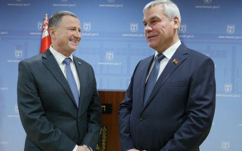 """יו""""ר הכנסת נפגש עם נשיא בולגריה רומן ראדב: """"סיכמו להמשיך את שיתופי הפעולה הפוריים"""""""
