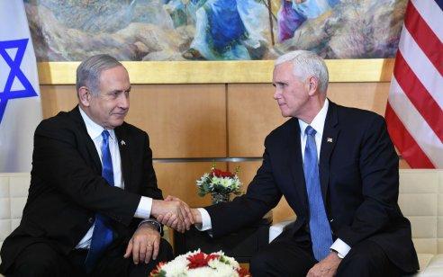 """סגן נשיא ארה""""ב מייק פנס: """"טראמפ ביקש להזמין את נתניהו וגנץ לפגישה בנושא תוכנית השלום"""""""