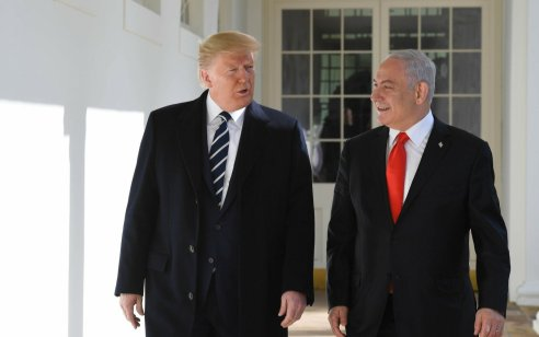 """ראש הממשלה בנימין נתניהו נועד עם נשיא ארה""""ב דונלד טראמפ בבית הלבן"""