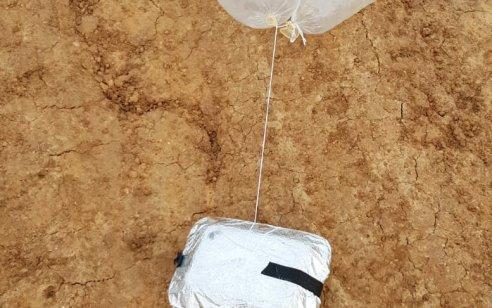 שני בלונים מחוברים לחפצים חשודים אותרו בשטחי שער הנגב – חבלן במקום