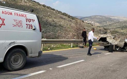 גבר כבן 30 נפצע קשה בהתהפכות רכבו סמוך לעינב