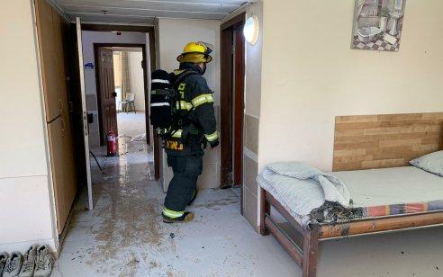 קשיש נפצע אנוש בשריפה שפרצה בבית אבות בנהריה