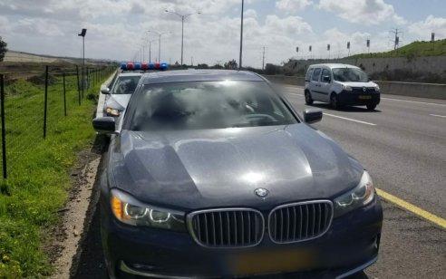 """תושב ירושלים בן 26 נתפס במהירות 195 קמ""""ש עם שני ילדיו בני 3,5 ברכב"""