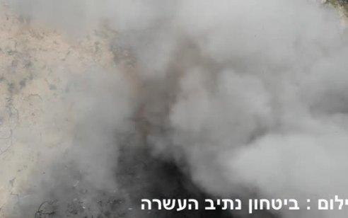 היה יכול להיגמר אחרת: תיעוד נדיר של זר בלוני נפץ שהתפוצץ הבוקר בנתיב העשרה