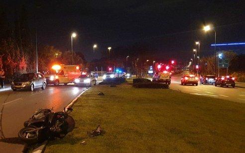 רוכב אופנוע בן 45 נהרג בתאונה בנתניה