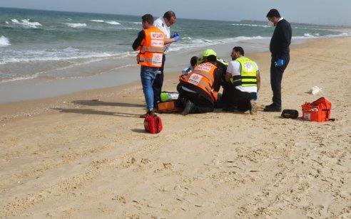 בת 60 נמשתה ללא דופק ונשימה בחוף המצודה באשדוד
