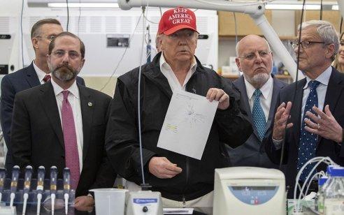 נשיא ארצות הברית דונלד טראמפ נמצא שלילי לנגיף הקורונה