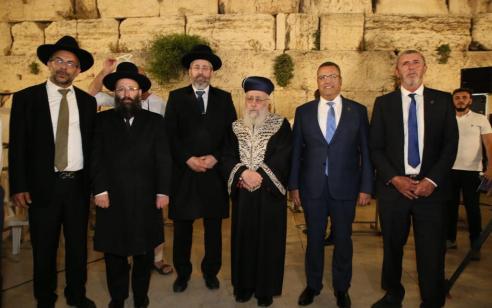 במלאות 53 שנה לשחרור ירושלים: רבבות מרחבי הארץ והעולם השתתפו במשדר מיוחד ברחבת הכותל המערבי