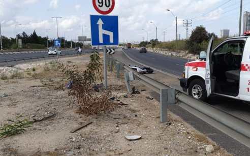 רוכב אופנוע כבן 45 נהרג בתאונה סמוך למחלף מורשה