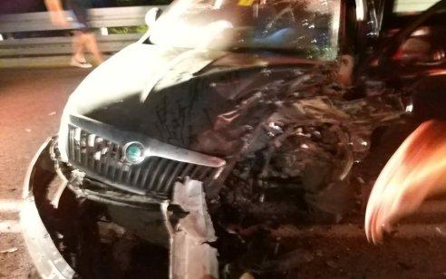 ארבעה נפגעים בתאונה חזיתית בצומת נס הרים