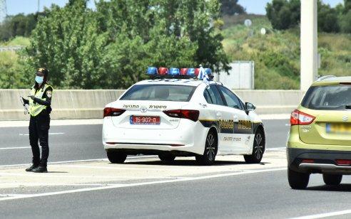 """במהלך סופ""""ש 60 רישיונות נהיגה נפסלו בגין עבירות חמורות שביצעו נהגים"""