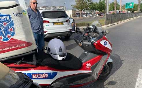 בן 32 שרכב על אופנוע נפצע בינוני בתאונה בחולון