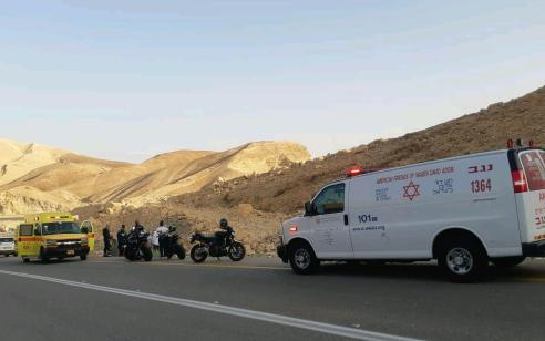 רוכב אופנוע בן 43 החליק בכביש 31 מצומת זוהר לצומת חתרורים – מצבו בינוני