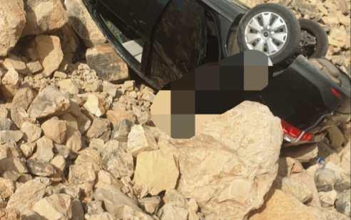 גבר בן 50 נהרג בהידרדרות רכבו לואדי סמוך למעלה אפרים