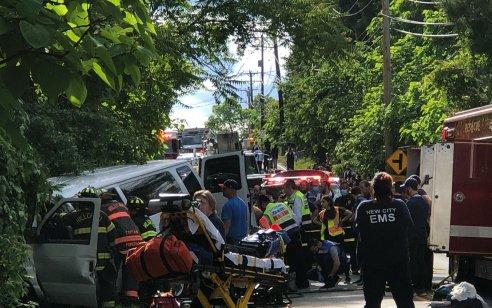 """תאונה מחרידה בעיירה סקווירא בארה""""ב: שני חרדים נהרגו עצמית"""