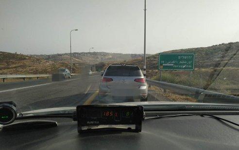 """נהג פלסטיני נתפס נוהג במהירות 185 קמ""""ש בכביש 60 בקטע בו המהירות המותרת 80 קמ""""ש"""