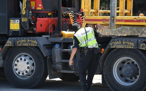"""המאבק בקטל בכבישים: 15 נהגים שביצעו עבירות חמורות הגורמות לתאונות נעצרו, כ-4,500 דו""""חות נרשמו"""