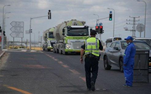 המאבק בקטל בכבישים: המשטרה פעלה באכיפה מוגברת נגד עבירות נהגי הרכב הכבד בכביש 444