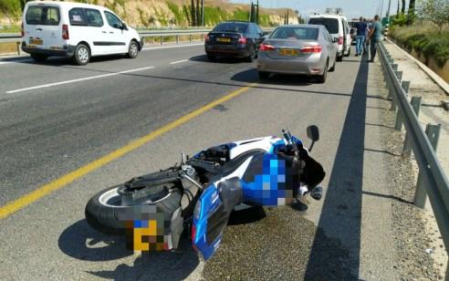 רוכב אופנוע נהרג בתאונה עצמית בכביש 79 סמוך לצומת גלעם