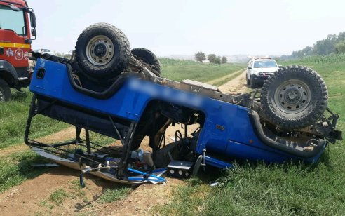 בחור ישיבה נפצע אנושות ו-6 נוספים קל לאחר שג'יפ שבו טיילו התהפך על גדות הירדן