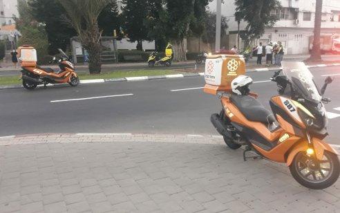 הולך רגל נפצע קשה ורוכב אופנוע בינוני בתאונה בתל אביב
