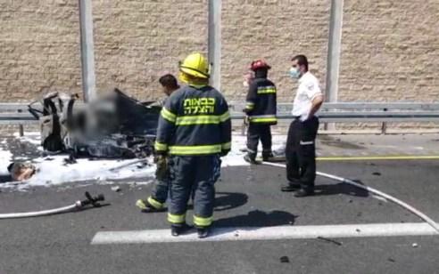 הרוג בתאונה בין רכב למשאית דלק בכביש 2 סמוך לנתניה