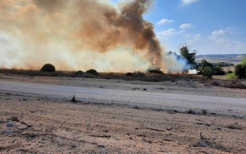 טרור הבלונים: 3 שריפות פרצו בעוטף עזה