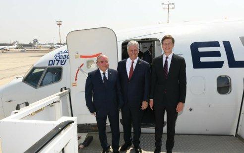 המשלחת הישראלית המריאה בטיסה הראשונה אי פעם לאבו דאבי מעל סעודיה