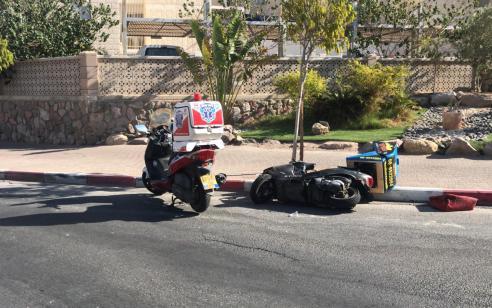 רוכב קטנוע בן 53 נפצע בינוני בתאונה עצמית באילת