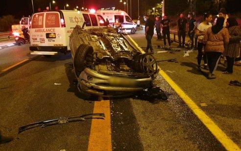 נהג בן 20 נפצע בינוני מהתהפכות רכבו בכביש 89 סמוך לצומתכברי