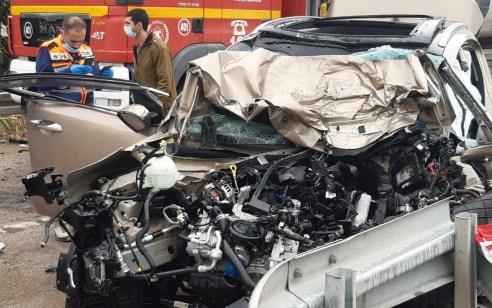 זוג כבני 60 נהרגו בתאונת בין רכב למשאית בכביש 90 סמוך לעוג'א | תיעוד