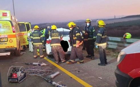 גבר כבן 20 נהרג בתאונת עצמית בכביש 6 סמוך למחלף שורק